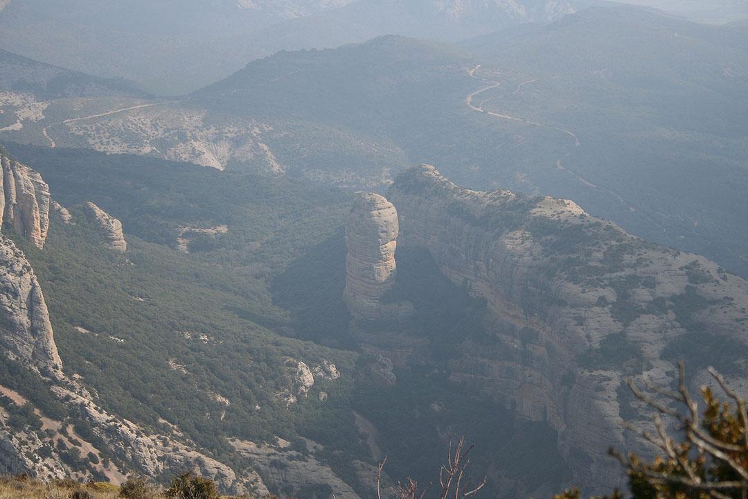 Vista del Huevo de San Cosme desde la Cima