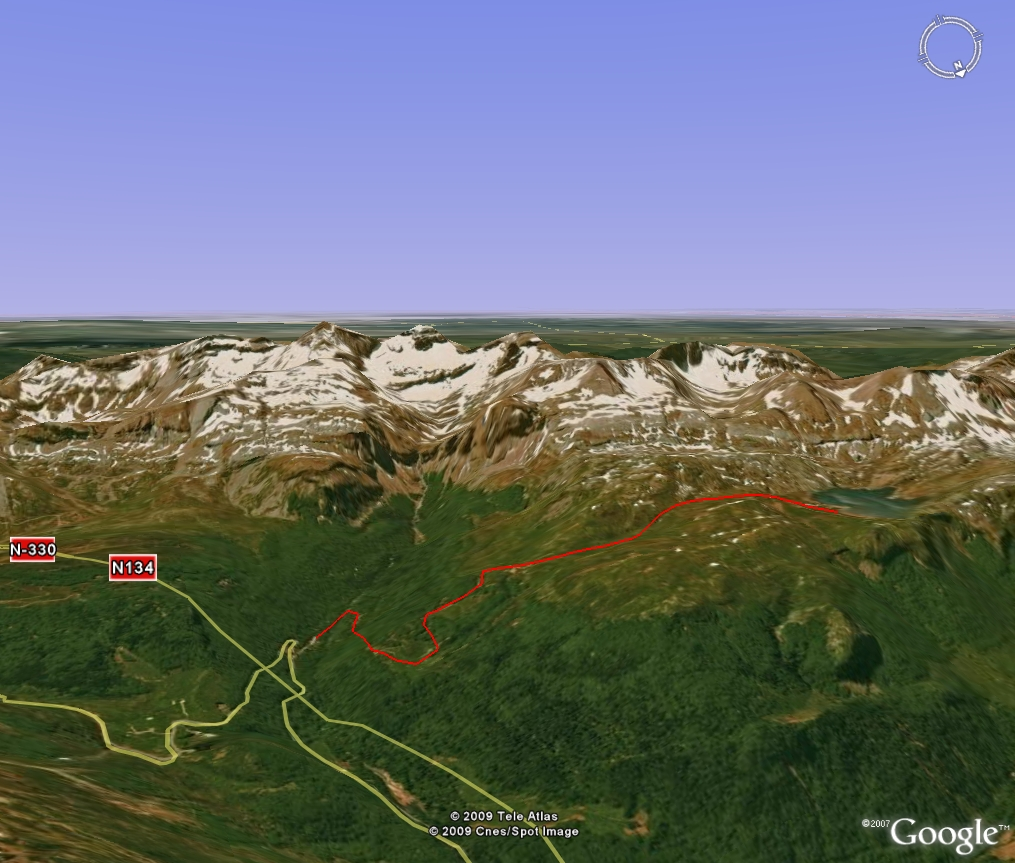 Vista 3D de la ruta