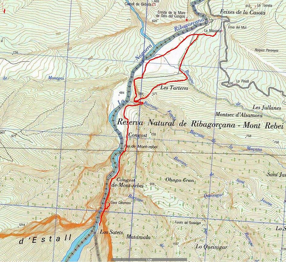Mapa de la ruta del I.G.N.