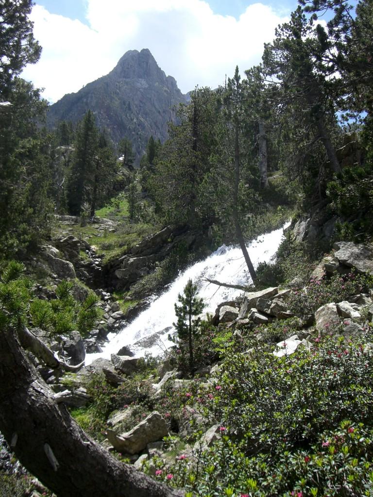 Cascadas durante la ascensión