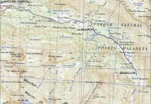Itinerario sobre mapa del IGN