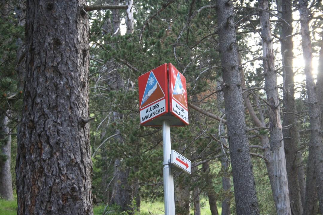 Zona con peligro de aludes