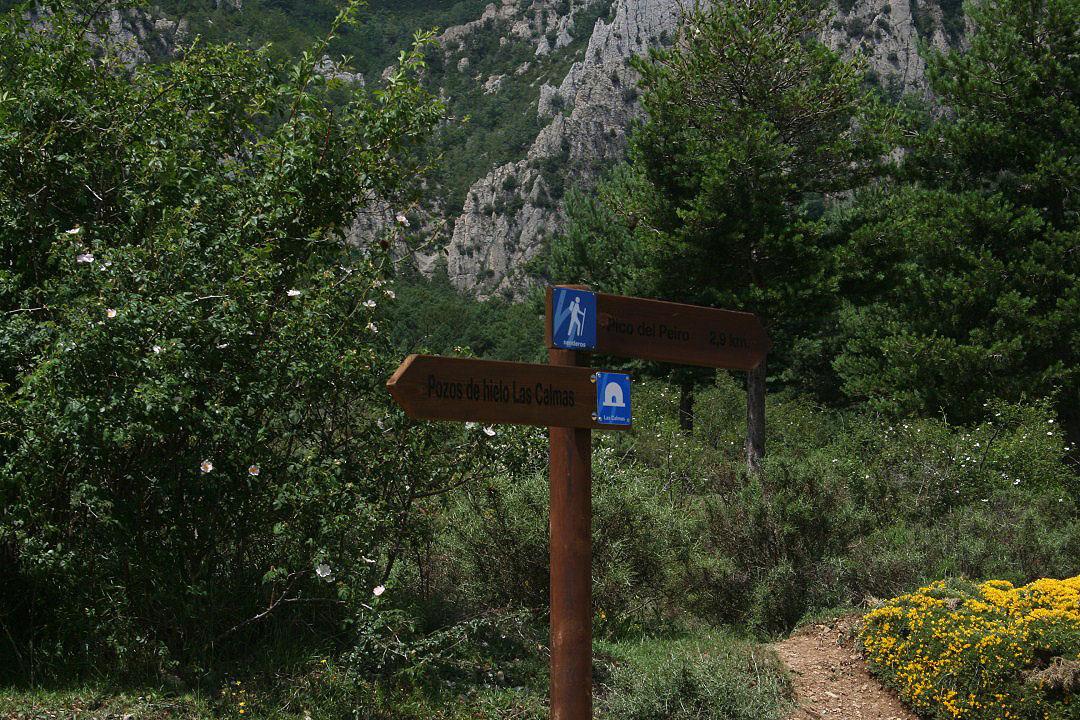 Desvio para acceso al pico Peiró