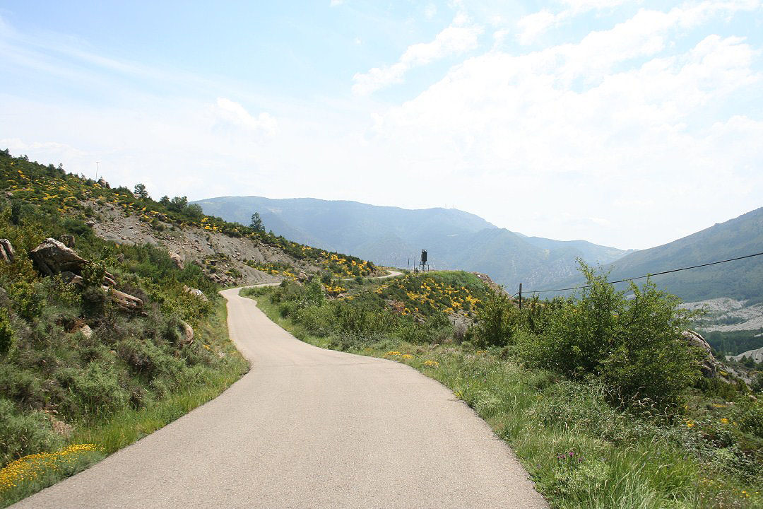 Serpenteando por la carretera