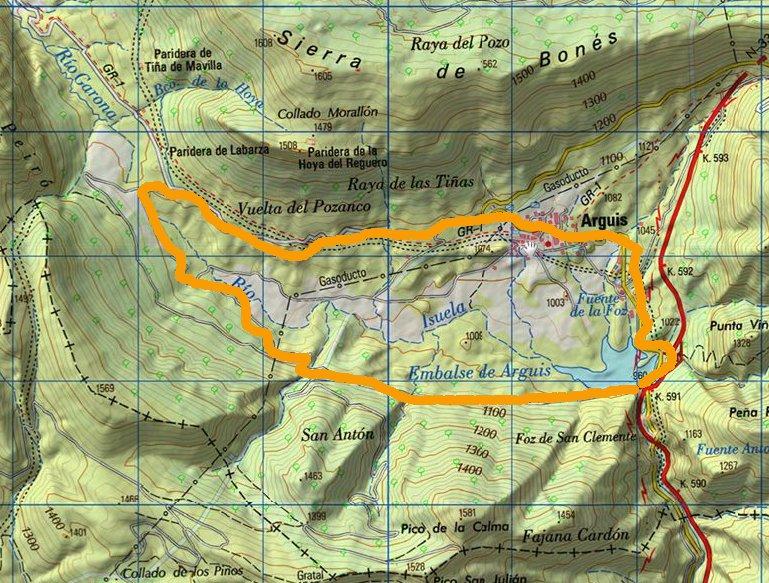 Mapa Visor IGN Vuelta BTT Pantano Arguis