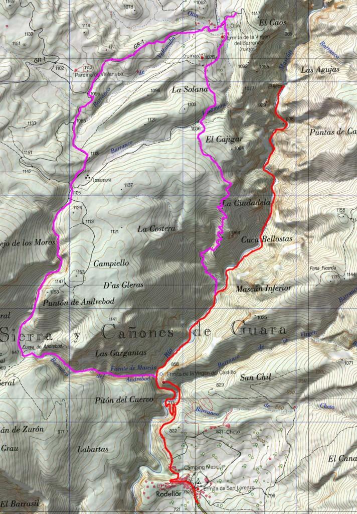 Rodellar Mapa IGN