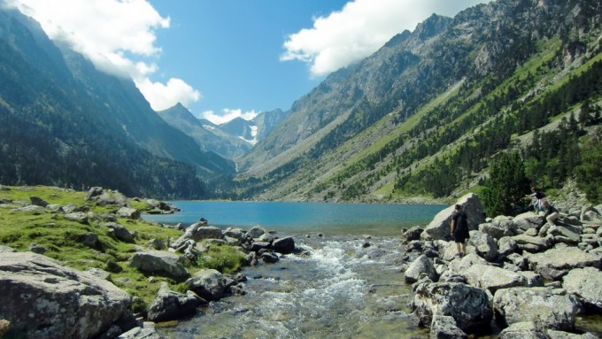 Lac de Gaube con el Macizo del Vignemale al fondo