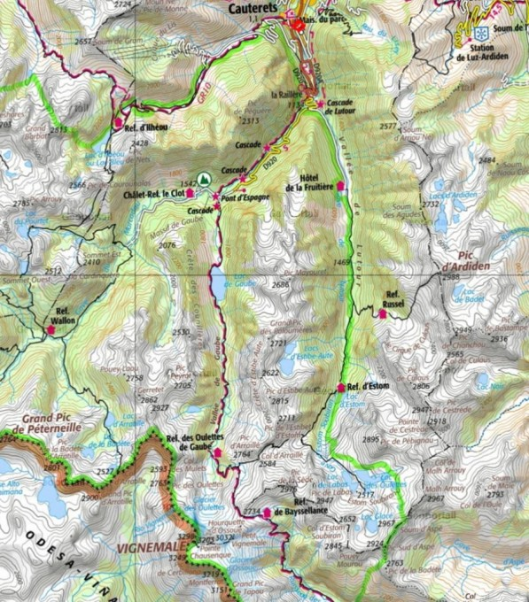 Ruta sobre mapa del Geoportail - France