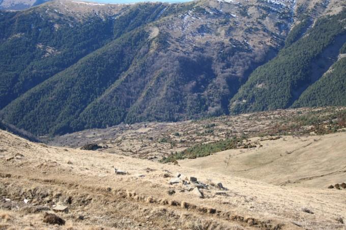 Vista del pueblo abandonado de Otal