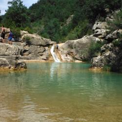 Pozo Pigalo y las Pozas del río Arba de Luesia