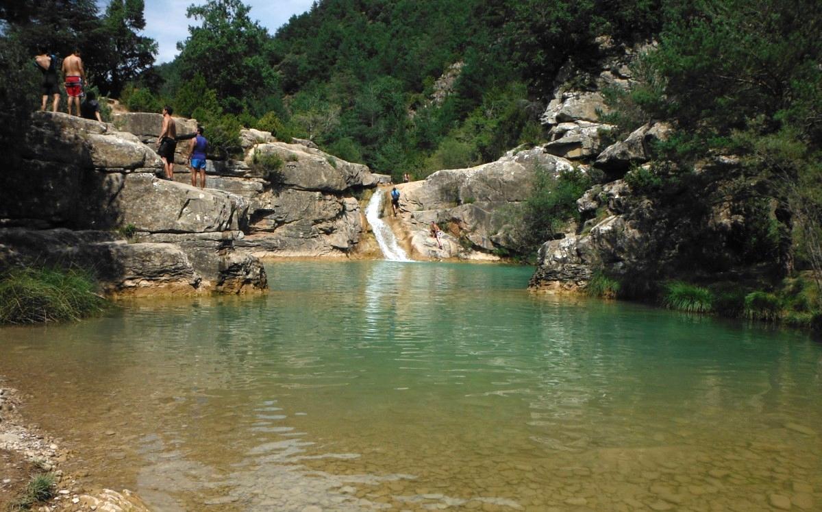 Monte Rio Ca >> Pozo Pigalo y las Pozas del río Arba de Luesia ...