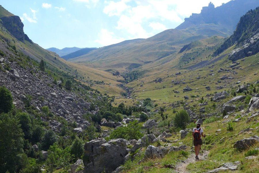 """Tramo final de """"La Cantalera"""" donde la Canal de Izas se abre ante nosotros"""