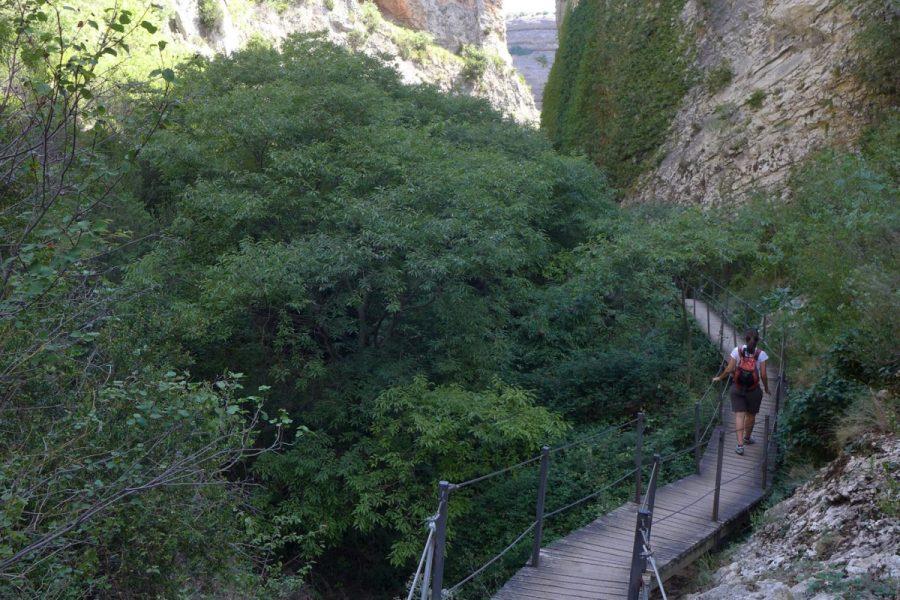 Último tramo de pasarelas en el Barranco de la Fuente