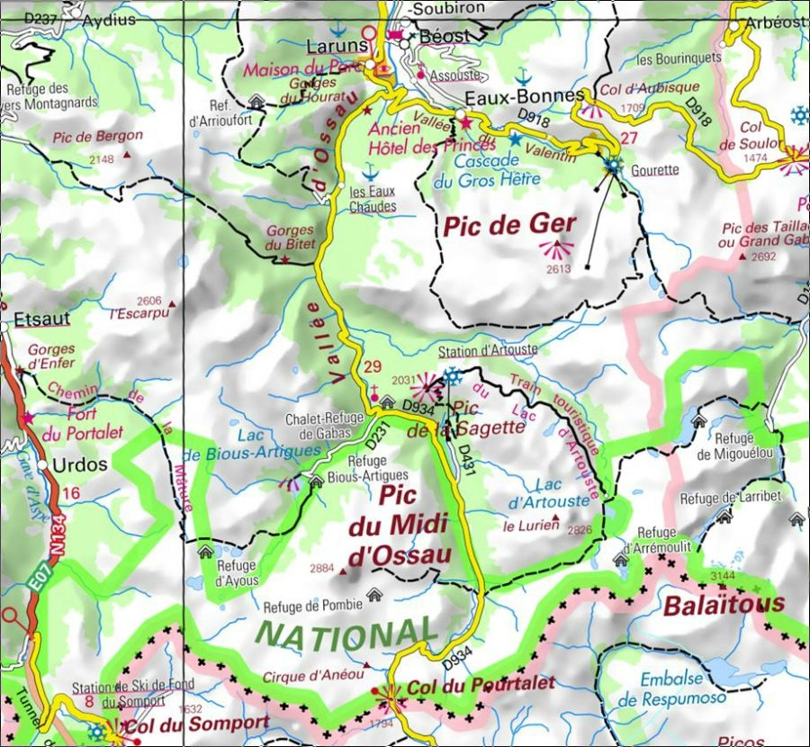 Mapa de ubicación obtenido de la web Geportail France