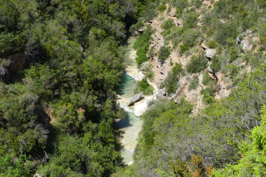 Vistas aéreas del Barranco del Formiga