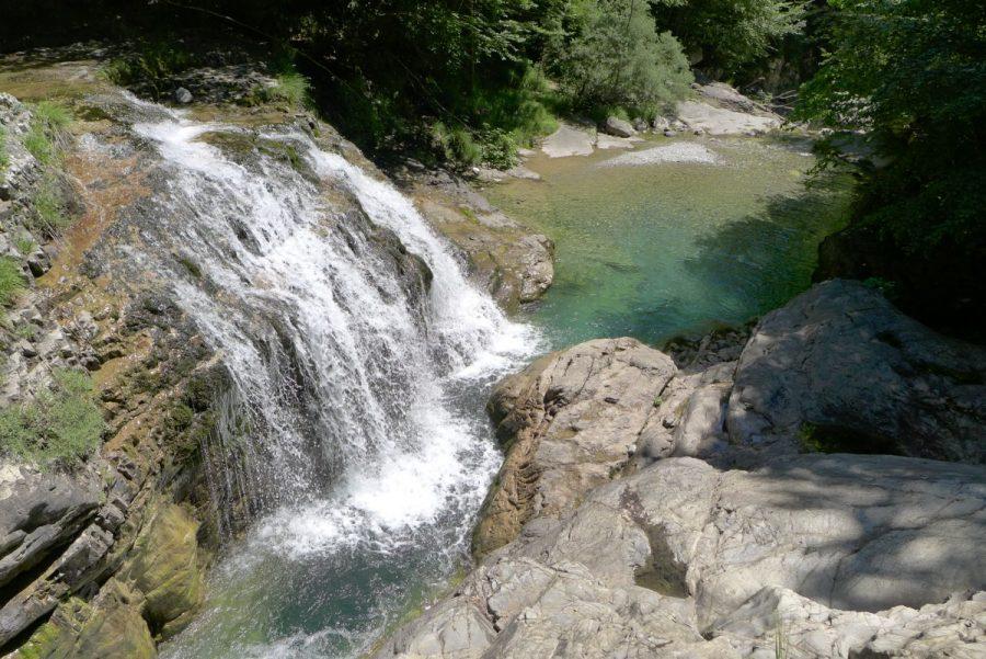 Cascadas en el río Yaga