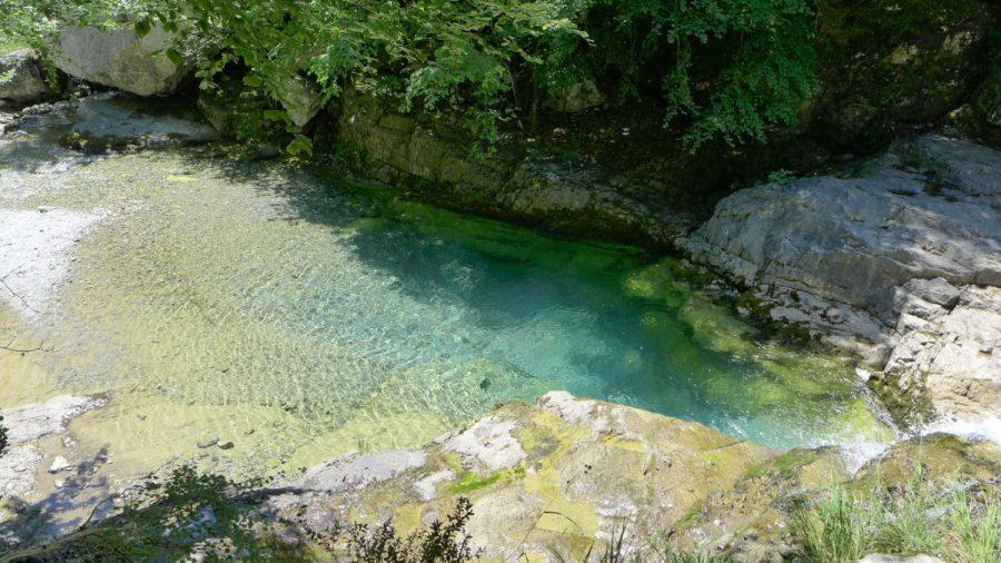 Badinas en el río Yaga