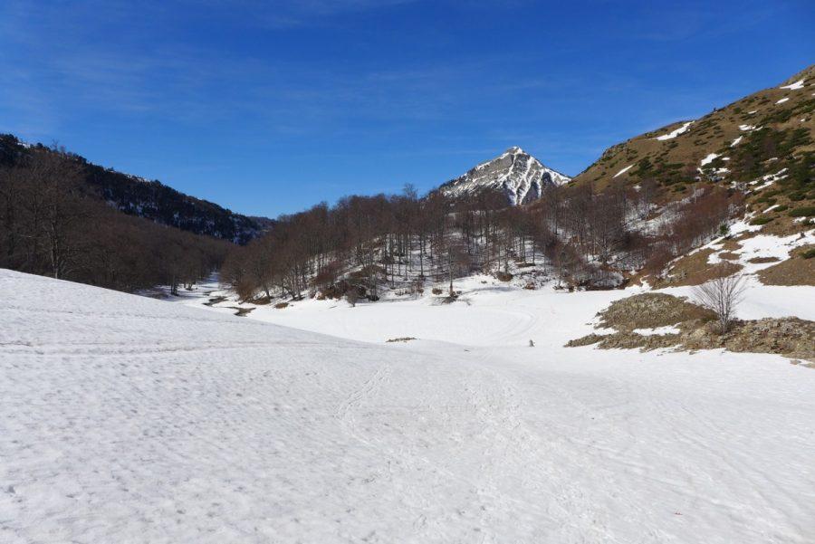 Segundo llano y punto final del circuito de esquí de fondo