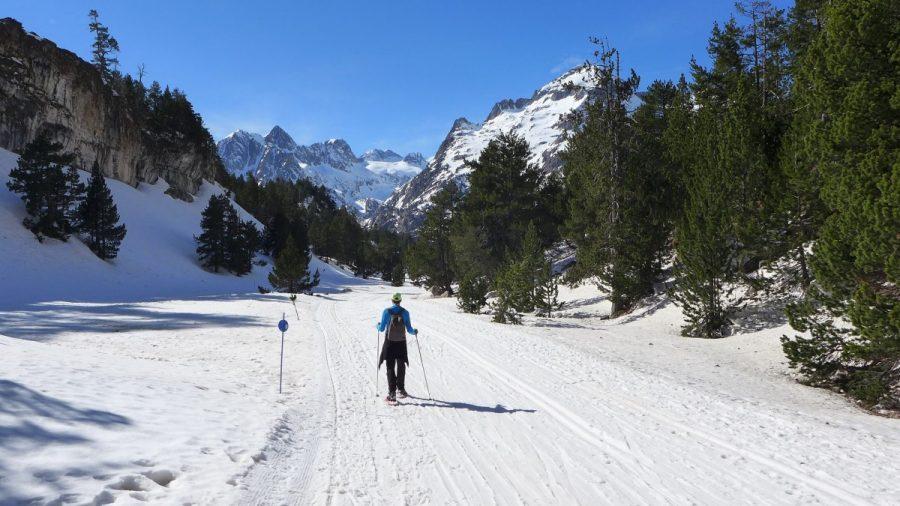 Recorrido por la pista de esqui de fondo
